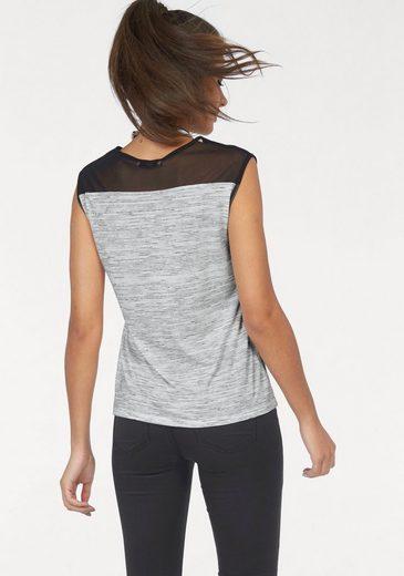AJC Oversize-Shirt, mit transparenten Einsätzen