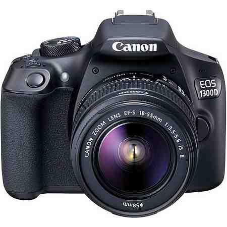 Canon EOS 1300D Kit Spiegelreflex Kamera, EF-S 18-55mm IS II Zoom, 18 Megapixel