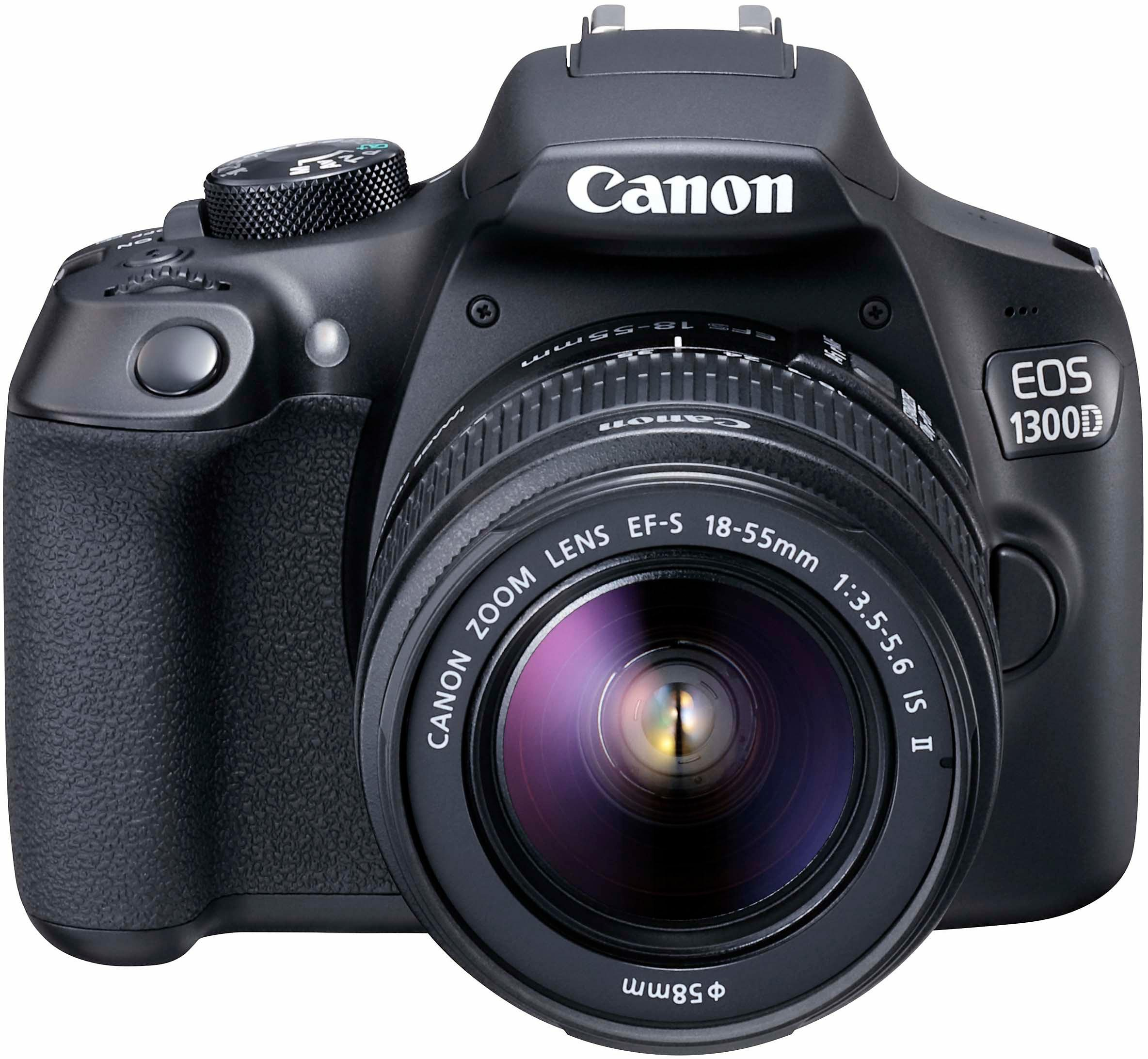 Canon EOS 1300D Kit Spiegelreflex Kamera, EF-S 18-55mm IS II Zoom, 18 Megapixel