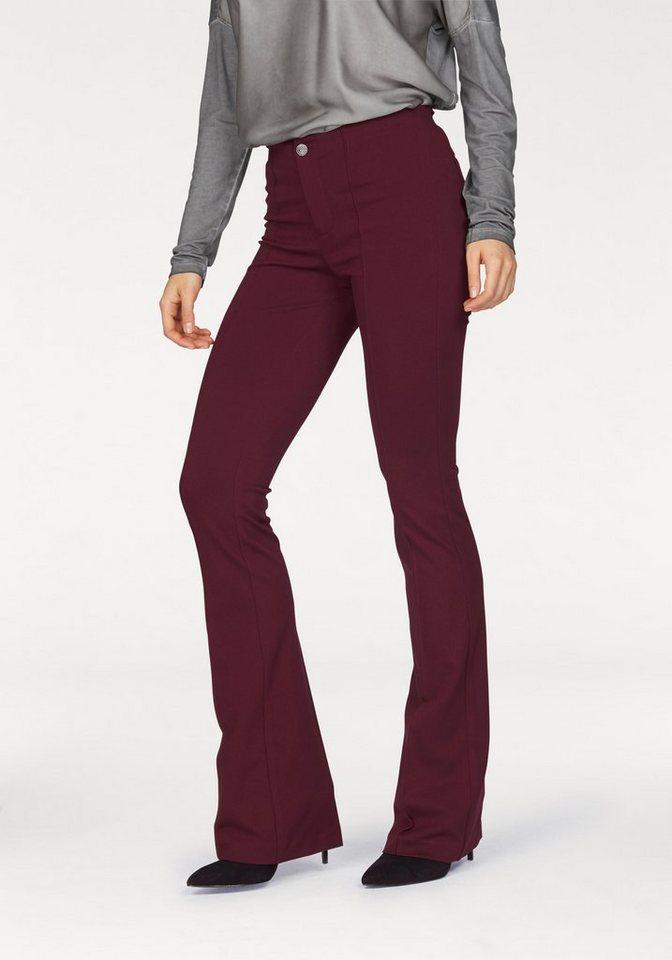Laura Scott Bootcuthose aus schwerer stretchelastischer Jersey-Qualität | Bekleidung > Hosen > Bootcut-Hosen & Schlaghosen | Rot | Jersey | Laura Scott