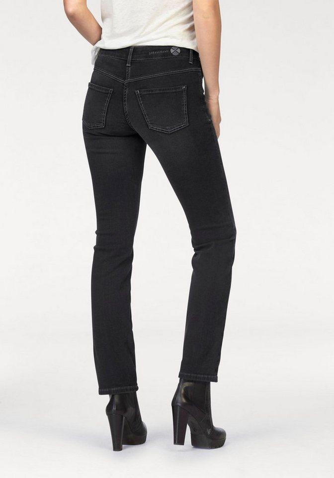MAC 5-Pocket-Jeans »Dream« Zaubert die Figur eine Größe kleiner in black