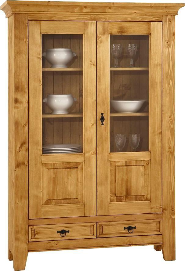 Premium collection by Home affaire Vitrine »Cornwall«, Höhe 175 cm in natur gewachst