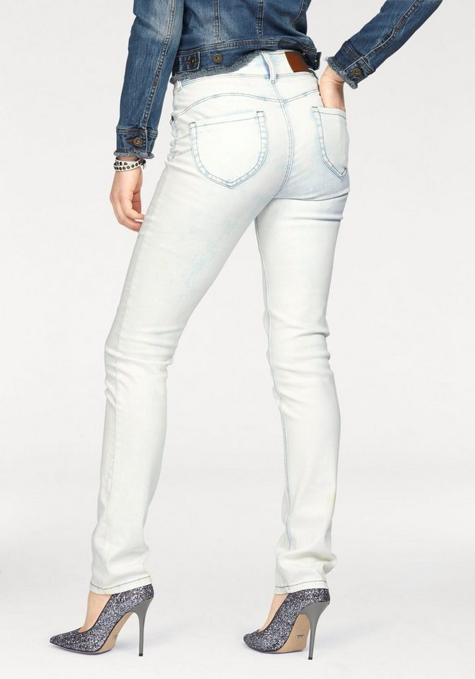 Arizona Skinny-fit-Jeans »Shaping« High Waist in snow-washed