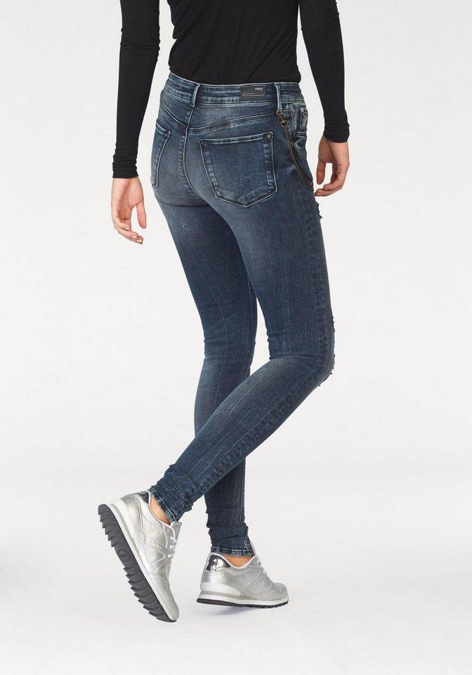 Only Skinny-fit-Jeans »Ultimate« Skinny Fit in darkblue-denim