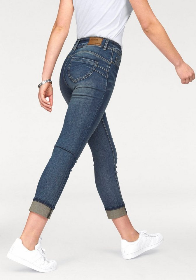 Arizona 7/8-Jeans »Shaping« High Waist in mid-blue-used