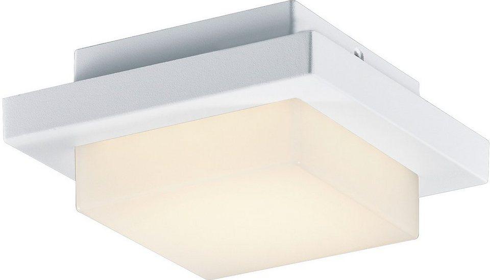 Trio LED Außenleuchte, 1flg., Wandleuchte, »HONDO« in Aluminium Druckguss, weiß