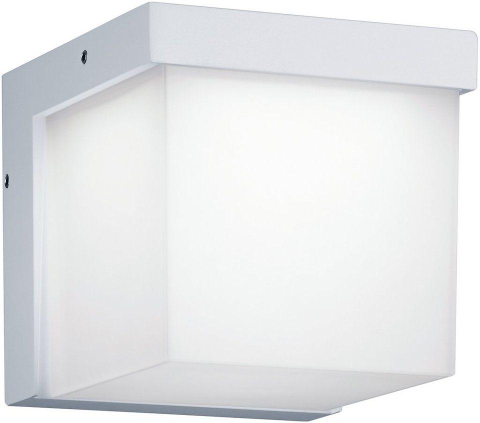 Trio LED Außenleuchte, 1flg., Wandleuchte, »YANGTZE« in Aluminium Druckguss, weiß