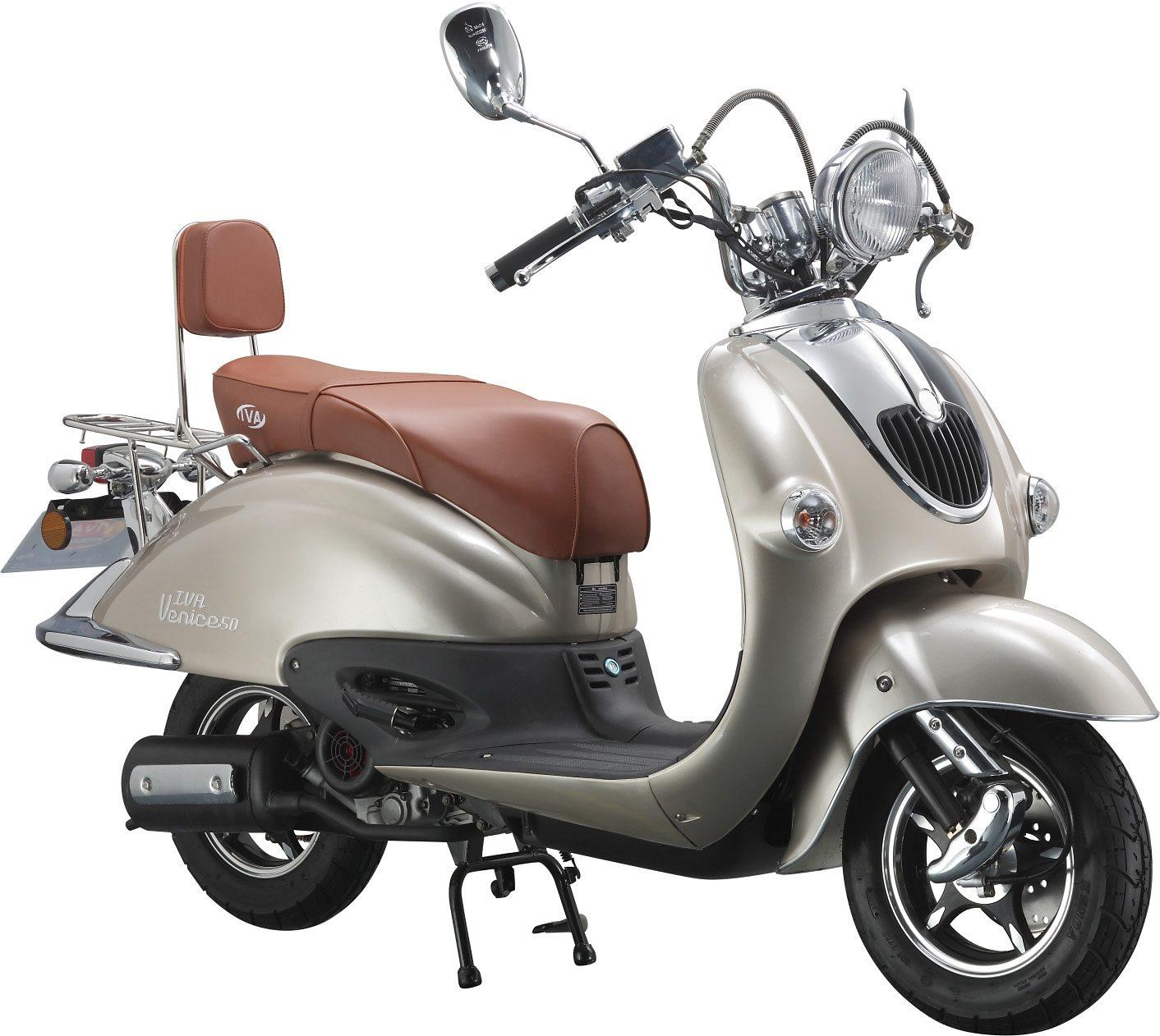 Retro-Motorroller »RETRO VENICE«, 50 ccm 45 km/h, für 2 Personen, champagner/braun