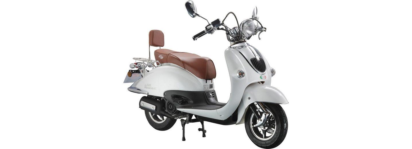 Retro-Motorroller »RETRO VENICE«, 50 ccm 45 km/h, für 2 Personen, weiß/braun