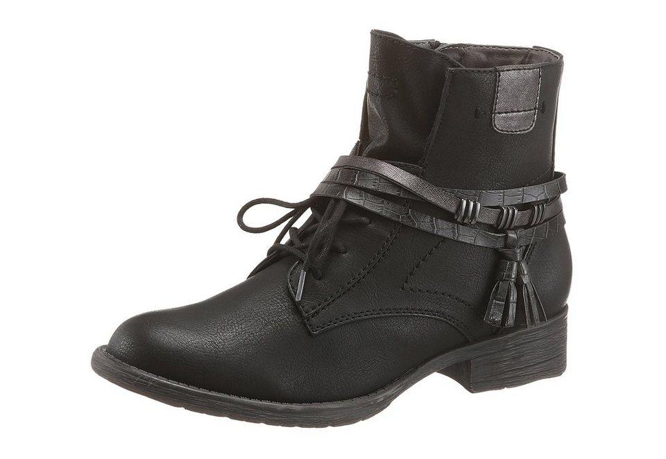 Jana Stiefelette in schwarz