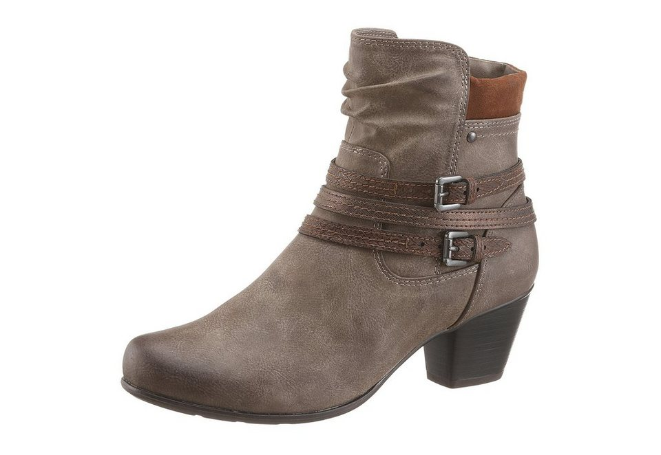 Jana Stiefelette in taupe