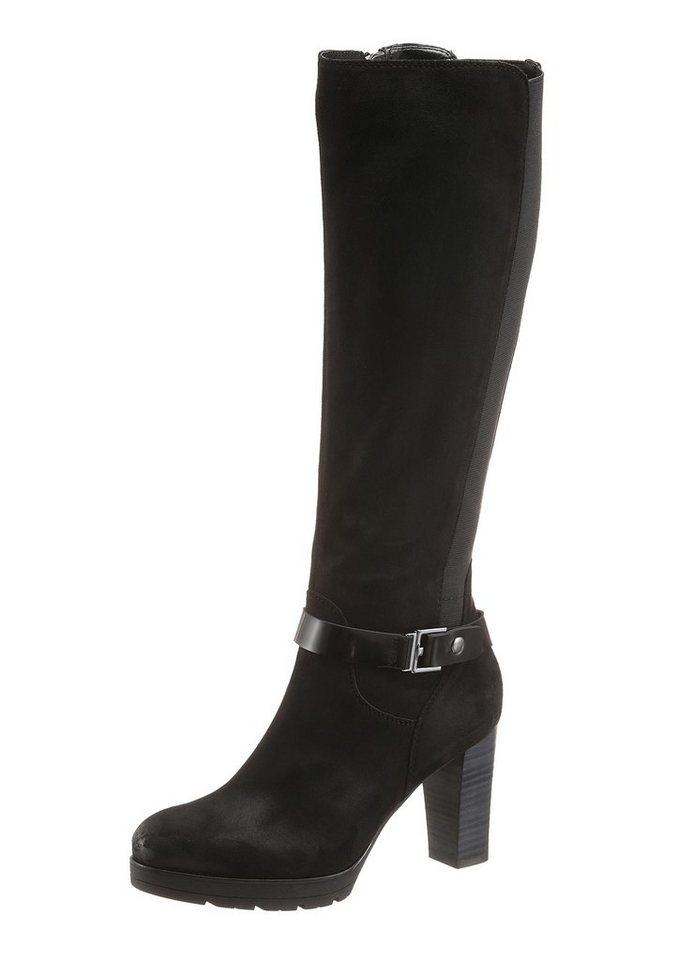 Tom Tailor Stiefel mit schöner Zierschnalle in schwarz