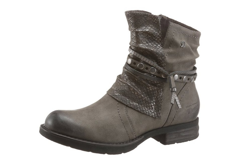 Tom Tailor Bikerboots in taupe