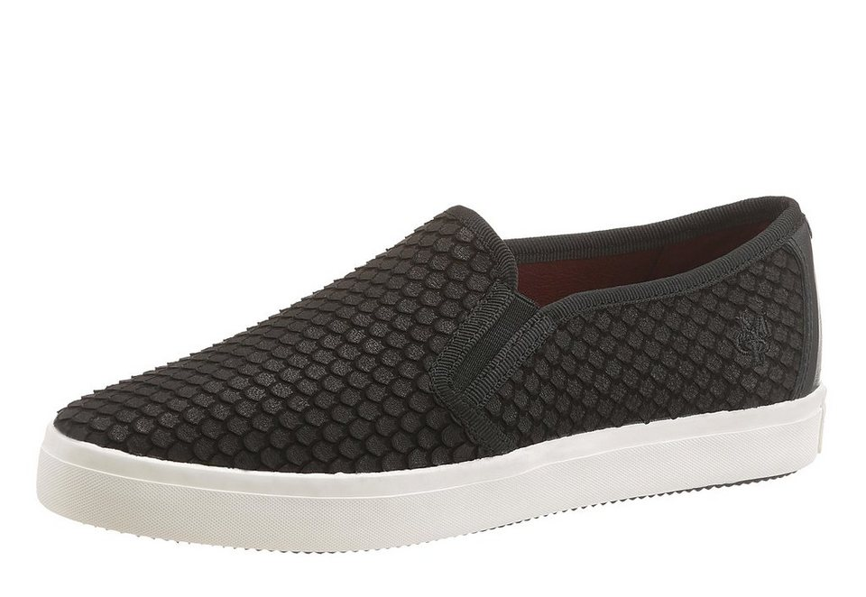 Marc O'Polo Slipper in Snake-Optik in schwarz