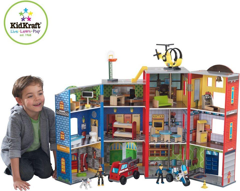 KidKraft® Puppenhaus mit Zubehör, »Helden des Alltags« (25tlg.)