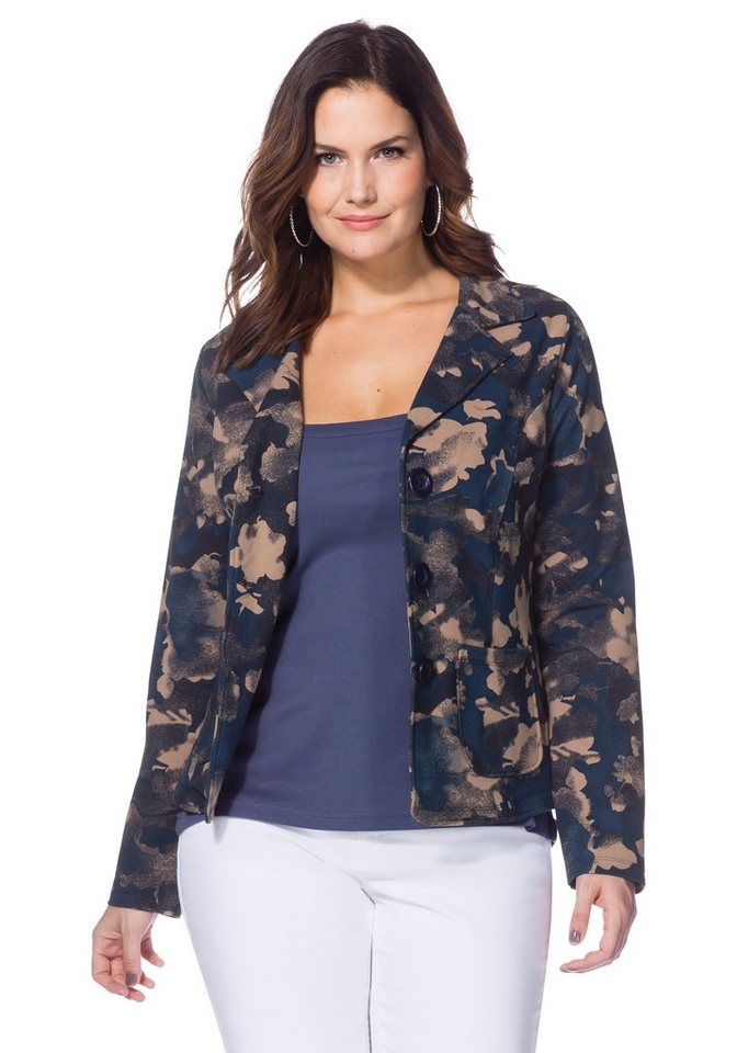 Joe Browns Relaxter Sweatblazer in blau-rosé