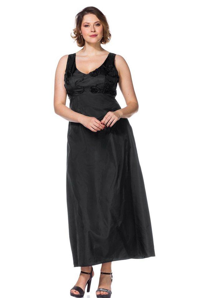 sheego Style Abendkleid in schwarz