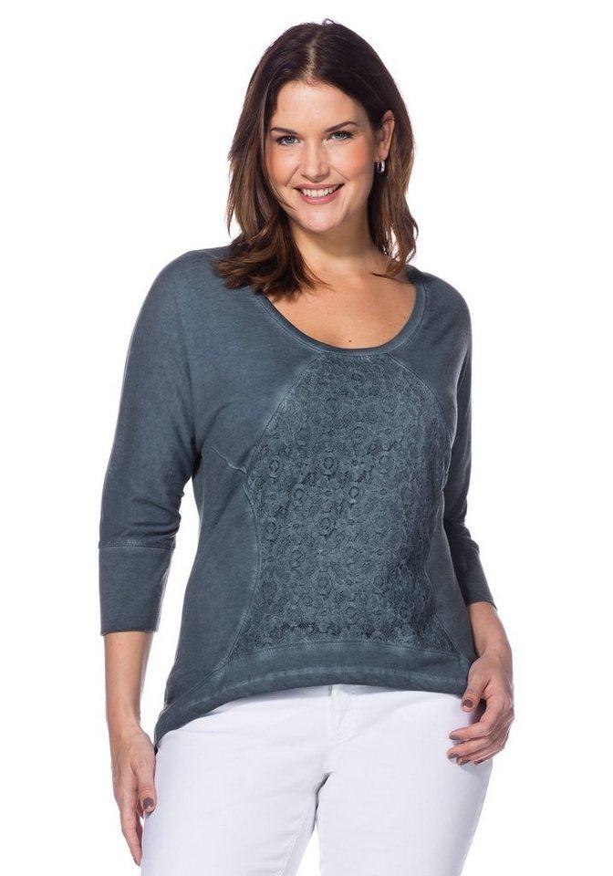 sheego Style Longshirt in blau
