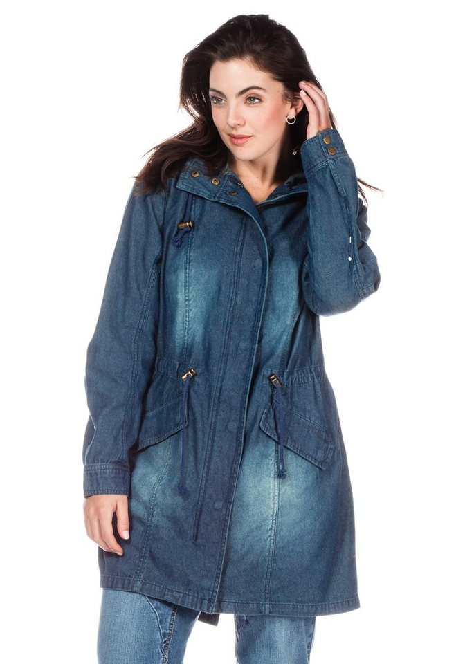 sheego Denim Jeans-Parka in blue denim