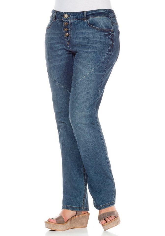 sheego Denim Gerade Stretch-Jeans in light blue denim