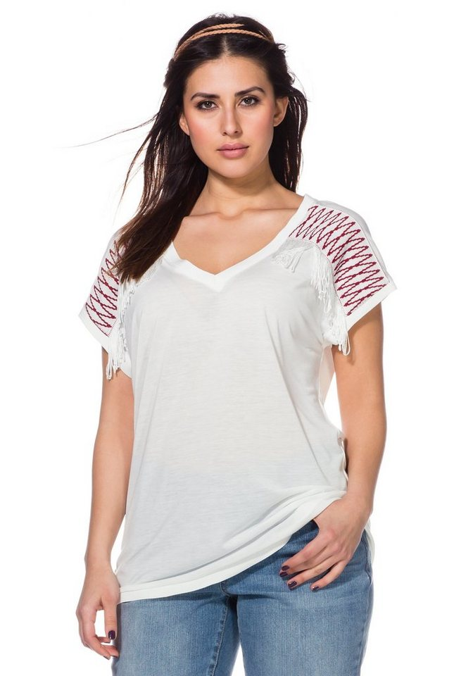 sheego Trend Shirt in offwhite