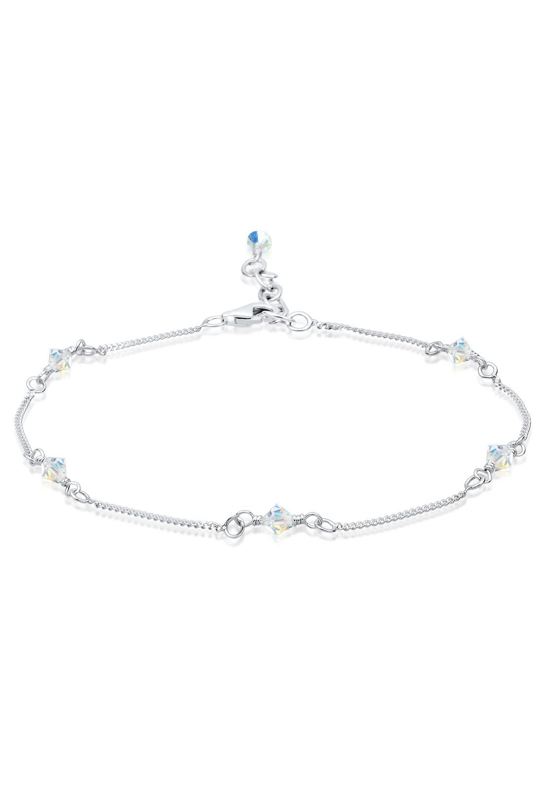 Elli Fußschmuck »Swarovski® Kristalle Sterling Silber«