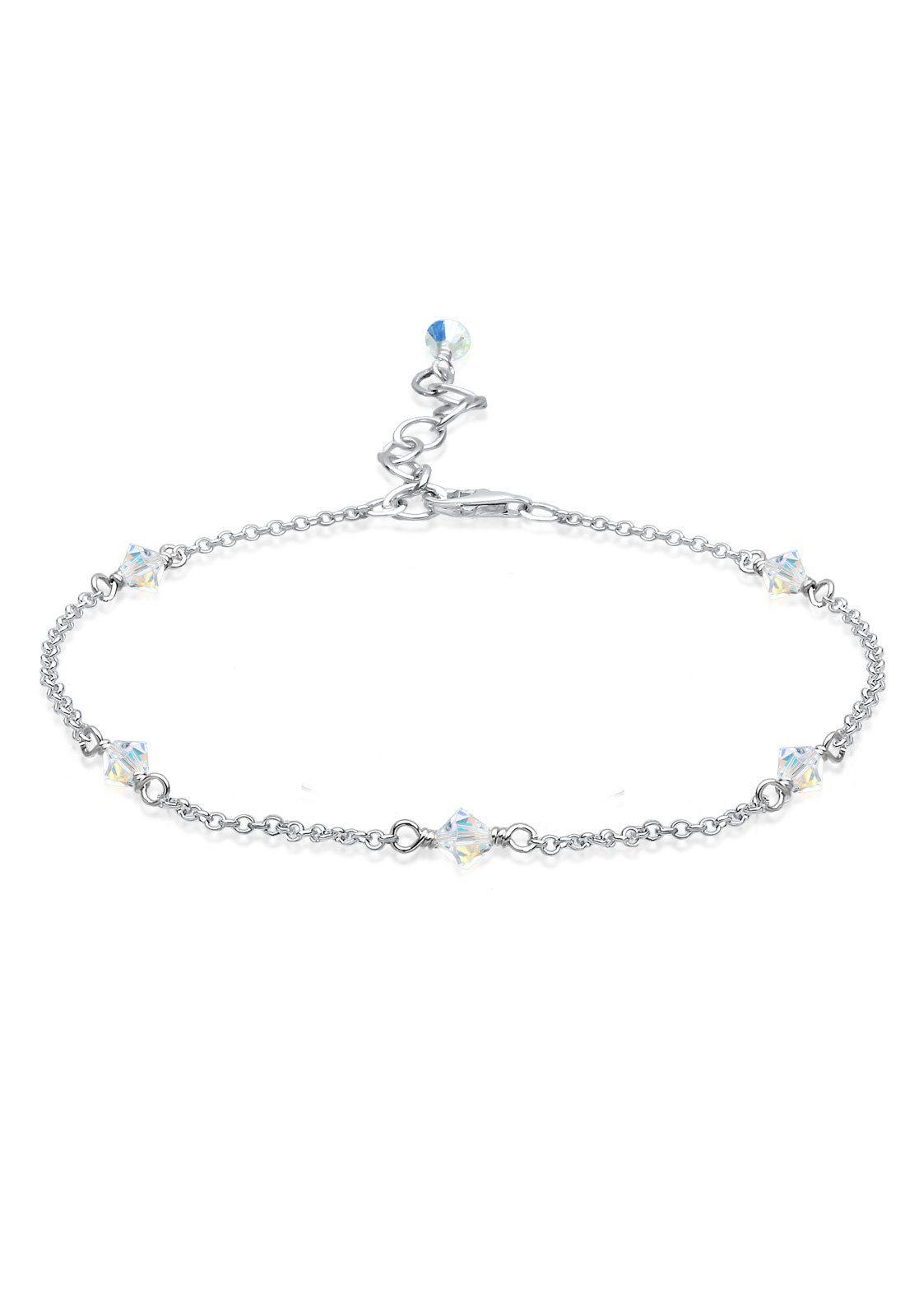 Elli Fußschmuck »Swarovski® Kristalle Klassiker 925 Silber«