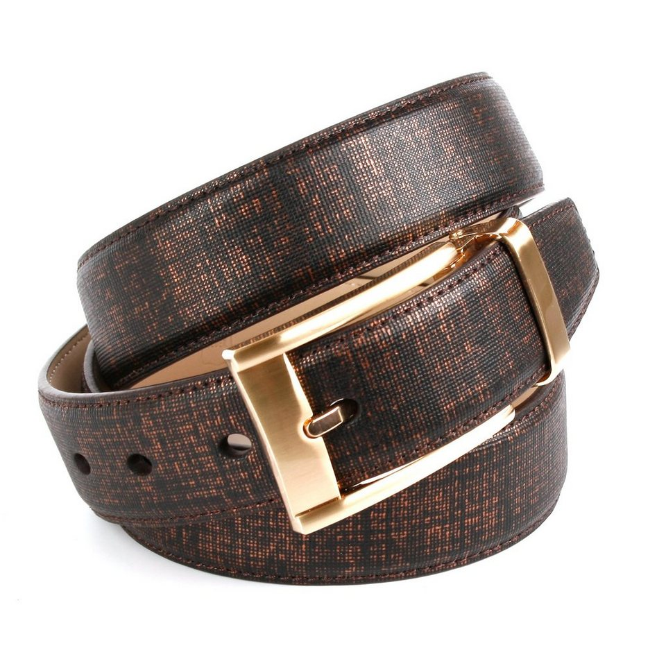 Anthoni Crown kupferfarbener Ledergürtel in klassischem Design in Braun