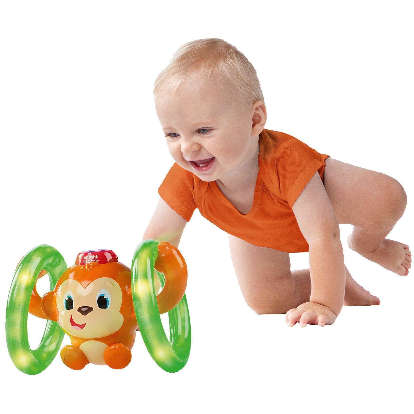 Kids II Bright Starts Leucht- und Roll-Affe
