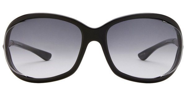 Tom Ford Damen Sonnenbrille »Jennifer FT0008« in 01B - schwarz/grau