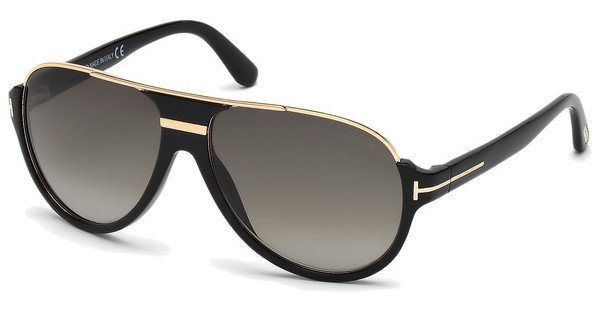 Tom Ford Herren Sonnenbrille »Dimitry FT0334« in 01P - schwarz/grün