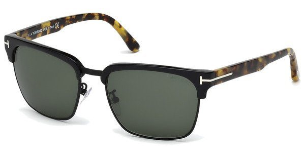 Tom Ford Herren Sonnenbrille »River FT0367« in 02B - schwarz/grau