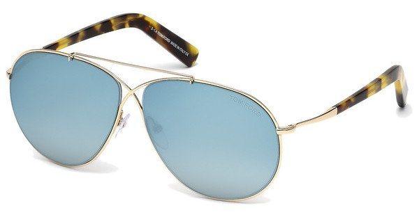 Tom Ford Sonnenbrille »Eva FT0374« in 28X - gold/blau