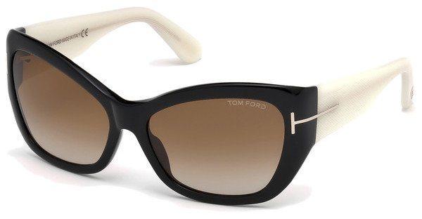 Tom Ford Damen Sonnenbrille » FT0460« in 01F - schwarz/braun