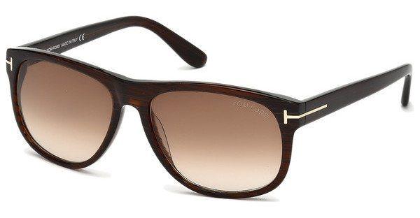 Tom Ford Herren Sonnenbrille »Olivier FT0236« in 50P - braun/grün