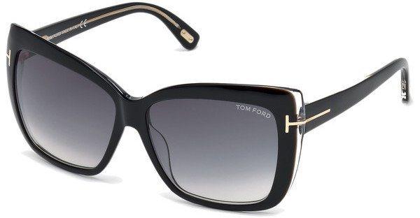Tom Ford Damen Sonnenbrille »Irina FT0390« in 01B - schwarz/grau