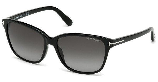 Tom Ford Damen Sonnenbrille »Dana FT0432« in 01B - schwarz/grau