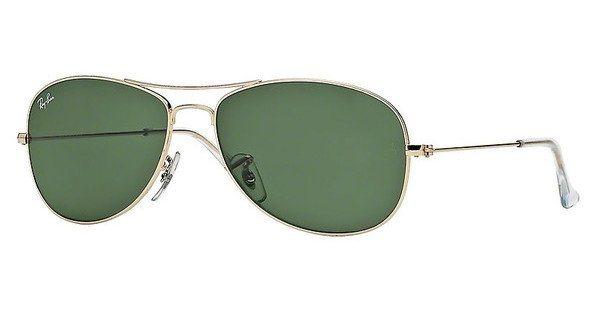 RAY-BAN Sonnenbrille »COCKPIT RB3362« in 001 - gold/grün