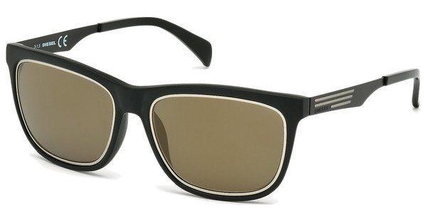 Diesel Herren Sonnenbrille » DL0165« in 02G - schwarz/braun