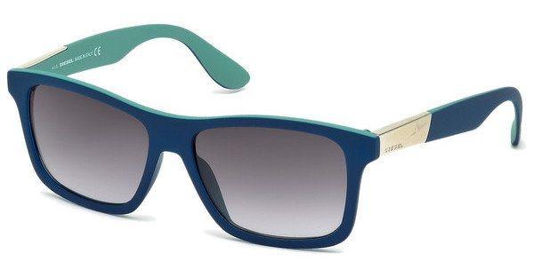 Diesel Herren Sonnenbrille » DL0184« in 92W - blau/blau