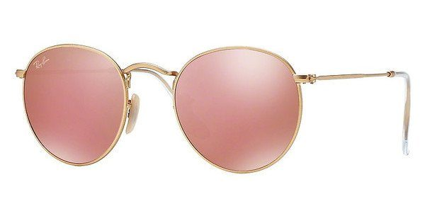 ray ban sonnenbrille round metal gold
