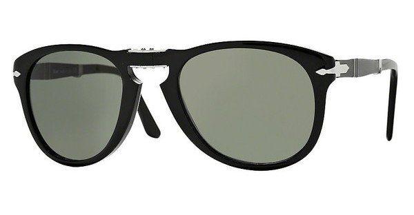PERSOL Persol Herren Sonnenbrille » PO6649S«, schwarz, 95/58 - schwarz/grün