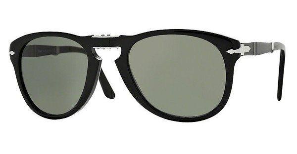 Persol Herren Sonnenbrille »FOLDING PO0714« in 95/31 - schwarz/grün