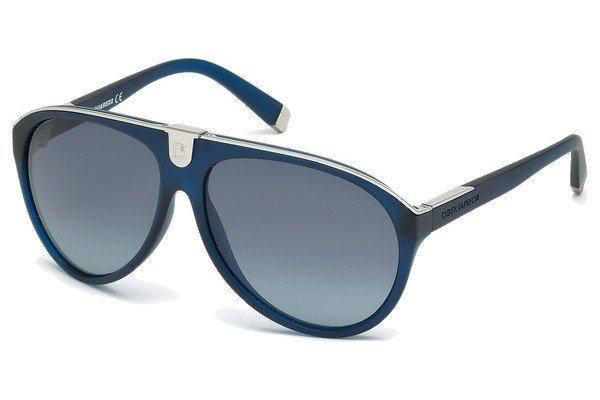 Dsquared² Herren Sonnenbrille » DQ0069« in 91W - blau/blau
