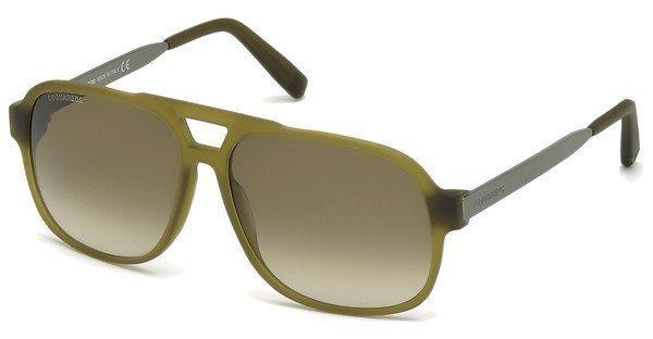 Dsquared² Herren Sonnenbrille » DQ0203« in 51P - grün/grün