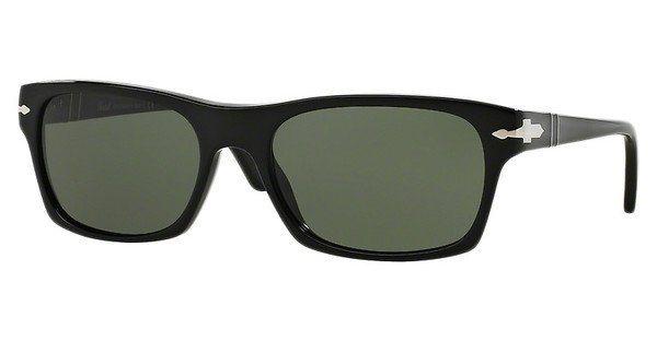 Persol Herren Sonnenbrille » PO3037S« in 95/31 - schwarz/grün