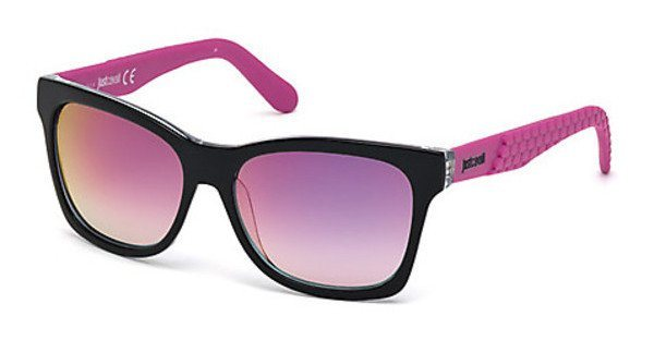 Just Cavalli Damen Sonnenbrille » JC649S« in 01U - schwarz/rot