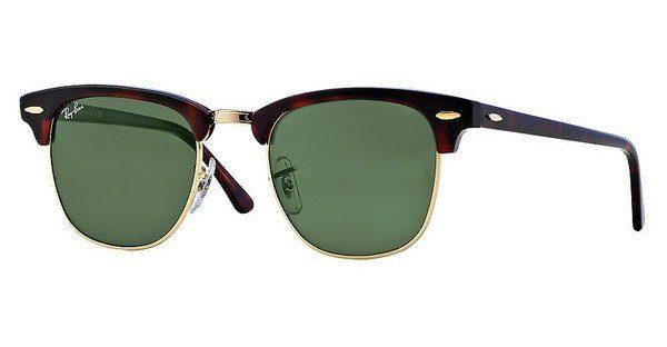 ray ban sonnenbrille clubmaster schwarz silber