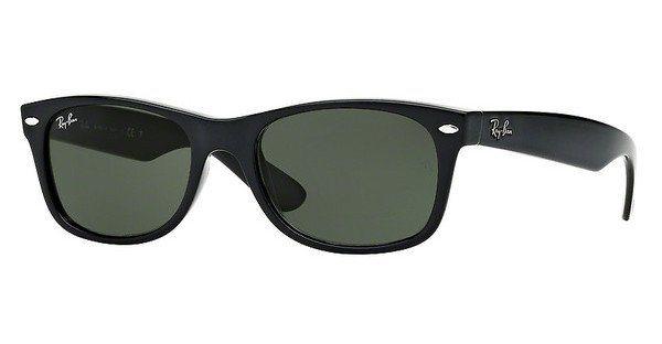RAY-BAN Herren Sonnenbrille »NEW WAYFARER RB2132« in 901 - schwarz/grün