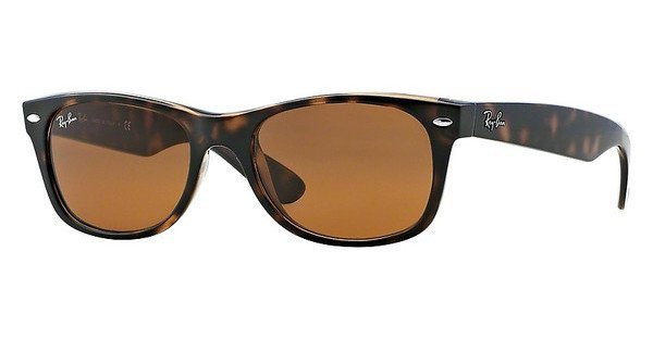 RAY-BAN Herren Sonnenbrille »NEW WAYFARER RB2132« in 710 - braun/braun